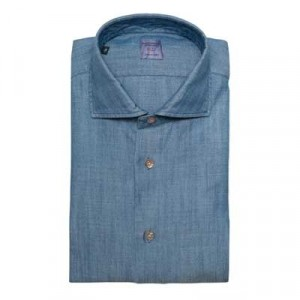 Mazzarelli Denim Herringbone Shirt