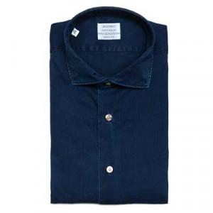 Mazzarelli Denim Shirt Dark Blue