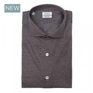 Mazzarelli Shirt Brown Jersey