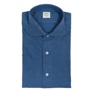 Mazzarelli Flannel Shirt Blue