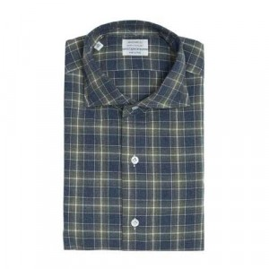 Mazzarelli Shirt Check Green and Blue
