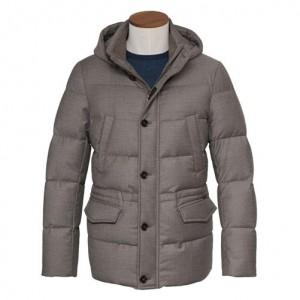 Moorer Coat Philip-LL Taupe