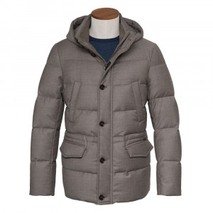Moorer Coat Philip-LL Taupe