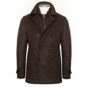 Moorer Pea Coat Bolgi-LE Brown