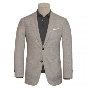 Pal Zileri Glen Plaid Jacket Grey