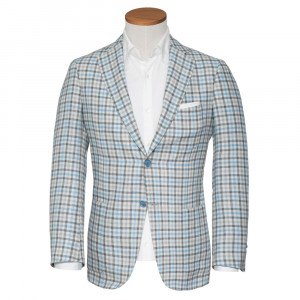Pal Zileri Jacket Check Grey-Blue