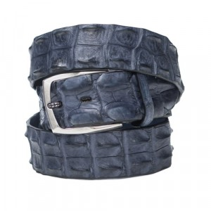 Paolo Vitale Croco Horn Back Belt Grey