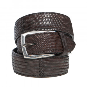 Paolo Vitale Belt Lizard Brown