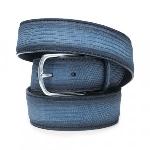 Paolo Vitale Lizard Belt Denim