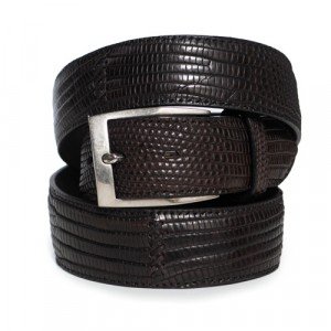 Paolo Vitale Lizard Belt Brown