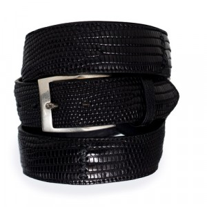 Paolo Vitale Lizard Belt Black