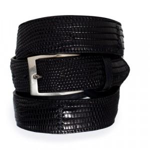 Paolo Vitale Lizard Belt Black