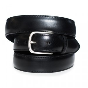 Paolo Vitale Calf Leather Belt Black