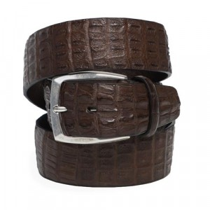 Paolo Vitale Genuine Crocodile Belt Brown