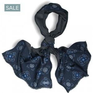 Roda Scarf Double-Face Silk Blue