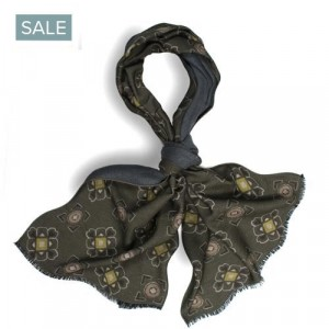 Roda Scarf Double-Face Silk Green