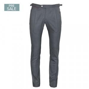 Germano Handmade Trousers Wool Grey