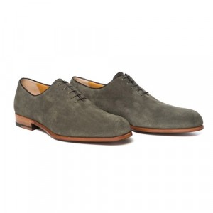 Testoni Wholecut Suede Shoes Olive