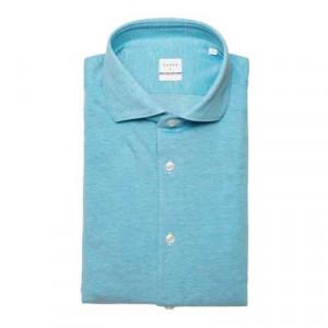 Xacus Cotton Jersey Shirt Aqua