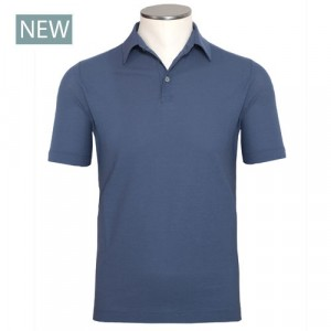 Zanone Ice-Cotton Polo Steel Blue