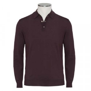Zanone Polo Flexwool Burgundy