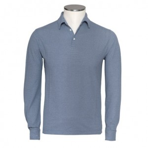 Zanone Ice Cotton Polo Blue