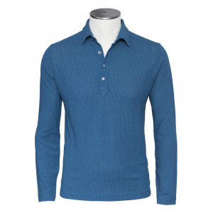 Zanone Ice Cotton Polo Fantasy Blue