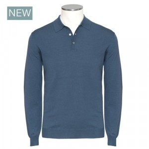 Zanone Polo Flexwool Blue-Petrol