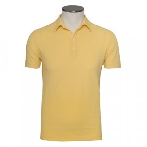 Zanone Ice-Piquet Polo Yellow