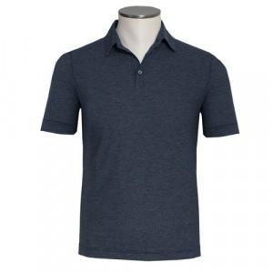 Zanone Ice Cotton Polo Navy Stripe