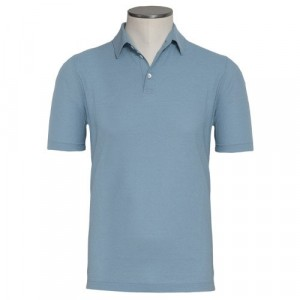 Zanone Ice-Cotton Polo Light Blue
