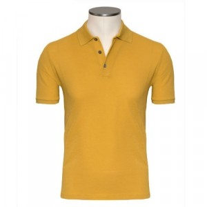 Zanone Polo Ice-Piquet Ocher Yellow