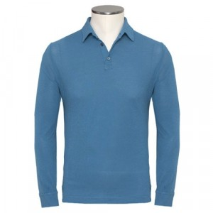 Zanone Polo Ice-Piquet Long Sleeve Blue