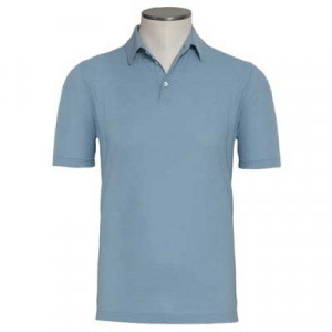 Zanone Ice-Cotton Polo Light-Blue