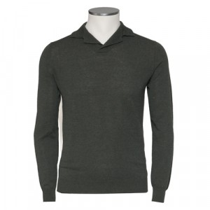 Zanone Polo V-Neck Green