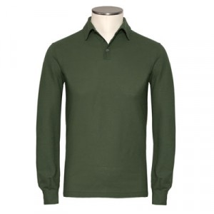 Zanone Ice-Cotton Polo Longsleeve Green