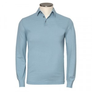 Zanone Ice-Cotton Polo Longsleeve Light Blue
