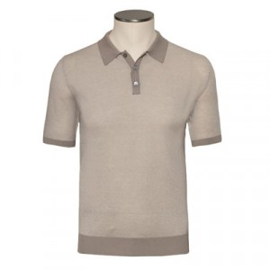 Zanone Knitted Polo Beige