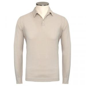 Zanone Ice-Cotton Polo Longsleeve Ivory