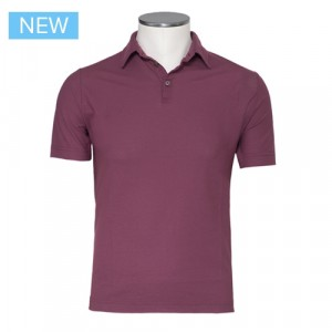 Zanone Ice Cotton Polo Burgundy