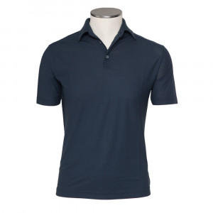 Zanone Ice Cotton Polo Navy