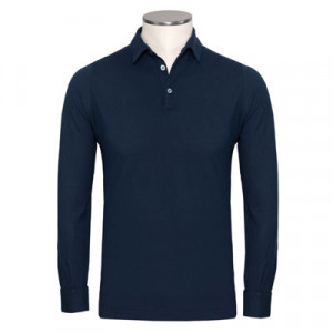 Zanone Polo Pima Cotton Navy