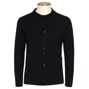 Zanone Knitted Shirt Cardigan Navy
