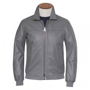Pal Zileri Lambsleather Jacket Grey