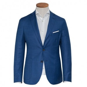 Pal Zileri Jacket Heringbone Blue
