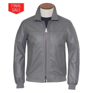 Pal Zileri Lambsleather Jacket Grey