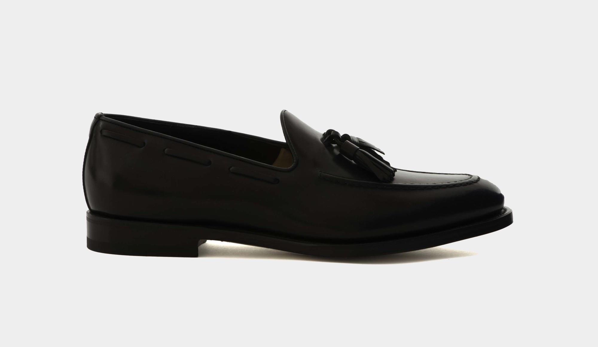 Santoni Tassel Loafers Black