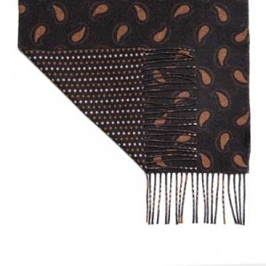 Altea Scarf Paisley Double-Face Brown
