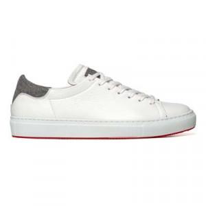 Andrea Ventura Deerskin Sneaker 'Atmosphere' White