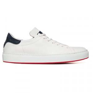 Andrea Ventura Deerskin Sneaker Unlined White-Blue